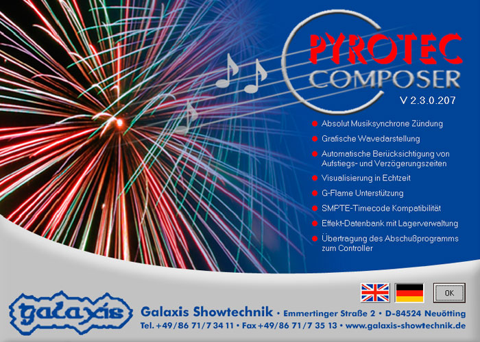 Pyrotec Composer – Choreografie-Software